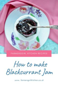 Blackcurrant Jam is one of the easiest jams you can make. Blackcurrants are naturally high in pectin which is the agent required to make the jam set. You don't need to add any additional pectin or lemon juice in this recipe, just blackcurrants, water, and sugar #blackcurrant #jam #recipe #easy Blackcurrant Jam Recipe, Chilli Jam, Black Currants, Jam Recipes, Kitchen Recipes, Recipe Using, Chutney, Preserves, Blueberry