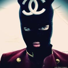 Justin Bieber Wears a ridiculous Chanel Ski Mask #logo #addiction #fashionvictim - Carefully selected by GORGONIA www.gorgonia.it