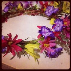 I made this floral crown for my sister...just for fun.