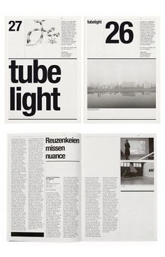 Layout mixing a variety of sizes of type - follow on from the large contents page text we've been exploring