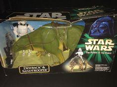 STAR WARS POTF ACTION COLLECTION DEWBACK AND SANDTROOPER (2000)  | eBay