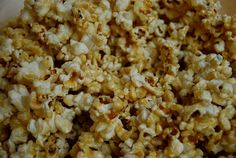 """""""better for you than other"""" caramel popcorn"""