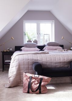 http://jensen-beds.com/ like this like this pink and greige bedroom.