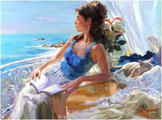 Sensitive images: Women by a Russian painter Vladimir Volegov - 25