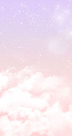 Pastel lilac pink clouds stars iphone wallpaper phone background lock screen