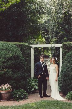 shannon & chip | charlotte, nc summer garden wedding | elegant, chic and romantic