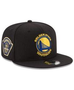 New Era Golden State Warriors All Metallic Hoops 9FIFTY Snapback Cap - Black Adjustable