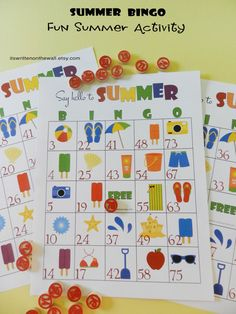 Summer BINGO Game for Hours of fun for by ItsWrittenOnTheWall