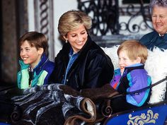 William and Harry with Princess Diana