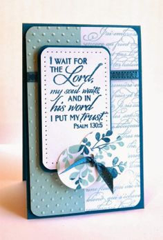 Card by Kim using New Mercies from Verve.  #vervestamps
