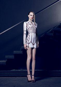 Cheryl Cole wearing Nicolas Jebran Fall 2015 Haute Couture Dress