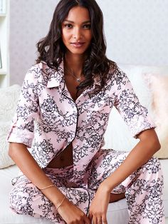 Shop sleepwear for women and choose from styles in silk, flannel, cotton and more! Get the perfect pajamas to fit any mood, from soft and cozy to sexy silk now at Victoria's Secret. The Pajama Game, Pajama Day, Victoria Secret Catalog, Victoria Secret Pajamas, Cute Pajamas, Flannel Pajamas, Pyjamas, Sleepwear Women, Pajamas Women