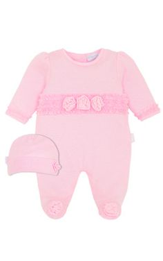 Preemie Rosette Footed Jumpsuit & Cap, Kids Clothes at Le Top. Lots of preemie clothes!