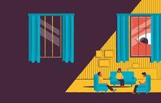 Illustration psychology test spy eye