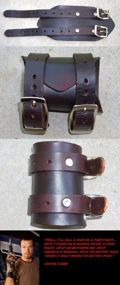 Jayne Cobb's Cuff by RuehlLeatherWorks on deviantART Cosplay Tutorial, Cosplay Diy, Cosplay Outfits, Halloween Cosplay, Cosplay Costumes, Cosplay Ideas, Costume Ideas, Halloween Costumes, Firefly Costume