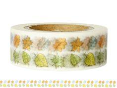 Masking Tape - Washi Tape BLÄTTER bunt - ein Designerstück von Fitzi-Floet bei DaWanda