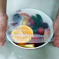 Keep your foods fresh longer with these water and air tight silicone lids.