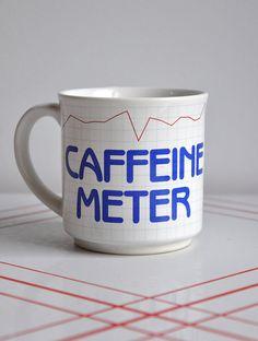 Retro 1980's Caffeine Meter Mug, $10