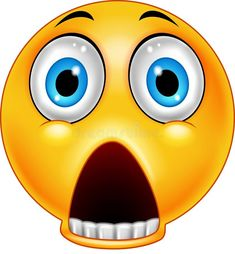 Scared emoticon with a dropped jaw Royalty Free Vector Image Emoticons Text, Animated Emoticons, Funny Emoticons, Animated Smiley Faces, Funny Emoji Faces, Emoticon Faces, Silly Faces, Happy Emoticon, Images Emoji