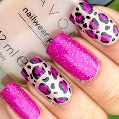 Purple and black nail art.