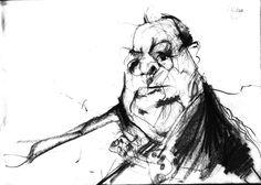 Winston Churchill. Pencil Sketch.