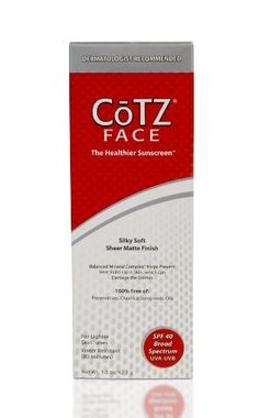 Cotz Face Lighter Skin Tone Spf 40, 1.5 Ounce by CoTZ. $19.99. Leaves skin silky, soft & smooth. - SPF 40 exceeds the level recommended by Skin Cancer Experts - Provides broad spectrum UVA/UVB protection - Photostable, will not breakdown when exposed to sunlight - Water & Sweat Resistant. - 100% Free of Oils, Fragrances, Preservatives, Parabens, PABA, Gluten, Phthalates - Does not irritate or sting - Gentle enough for all skin types - Contains #1 & #2 rated sunscreen ingredien...