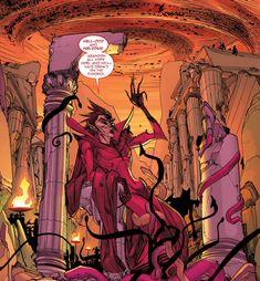 Azazel Marvel, Marvel Vs, Marvel Comics, Mephisto Marvel, Marvel Villains, Comic Page, Ghost Rider, Graphic Novels, Scarlet Witch