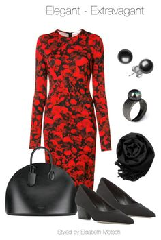 A fashion look from September 2017 featuring floral print dress, pointy-toe pumps and tote purses. Browse and shop related looks. Tote Purse, Givenchy, Calvin Klein, Floral Prints, Fashion Looks, Pumps, Elegant, Polyvore, Shopping