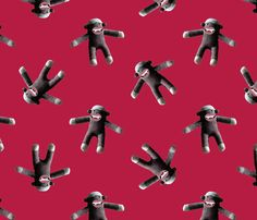 sock monkey vampires fabric by hollishammonds on Spoonflower - custom fabric - @Amy Landes - Aaahhhhhhh!