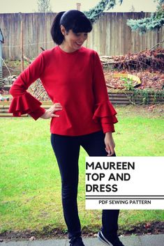 NEW PATTERN FOR SALE: The Maureen Top and Dress PDF Sewing Pattern and Tutorial