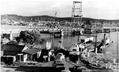 Construction of Bay Bridge in Batemans Bay in the south coast of New South Wales in south. Back In The Day, Quebec, Paris Skyline, National Parks, Coast, Around The Worlds, Australia, History, South Wales