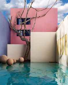 """Mi piace"": 20.8 mila, commenti: 114 - @archilovers su Instagram: ""Flooded Courtyard with Tree, 2017, based on Luis Barragan's Gilardi House, Mexico City :…"""