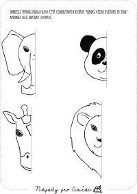 Dokreslování - cizokrajná zvířata Preschool, Snoopy, Kids, Fictional Characters, Animaux, Geometry, Africa, Carnavals, Animales