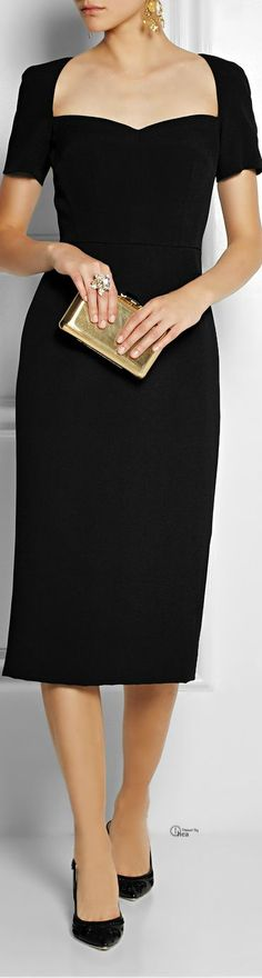 Dolce & Gabbana Crepe pencil dress: