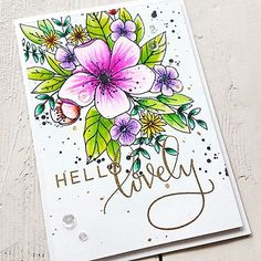 "265 Likes, 44 Comments - Maria Peters (@a_country_home) on Instagram: ""Another card I create with the beautiful 'Hello Lovely' Stamp Set by @concordand9th It's so much…"""
