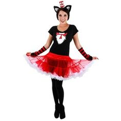 """Every women Love this """"Cat In The Hat"""" Costume..! New for Halloween """"Cat In The Hat Tutu"""" Adult Costume"""