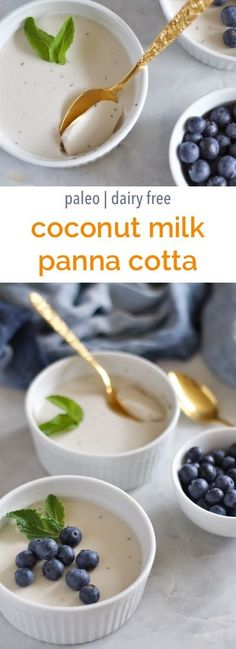 Coconut Milk Panna Cotta Recipe with orange and mint