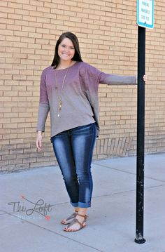Love this top for fall...  beautiful colors...  Shop this look at The Loft in store or online...
