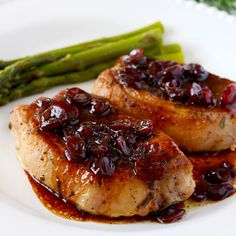Pork Chops with Port Wine & Cranberry Reduction
