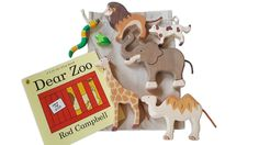 A beautiful and thoughtfully created Dear Zoo Story Sack based on the book by Rod Campbell. Features wooden characters from the book. Dear Zoo Book, Gruffalo's Child, Story Sack, Sensory Experience, Sacks, Stories For Kids, Animal Party, Natural Linen, Story Time