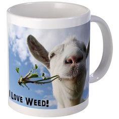 Weed Goat Mugs on CafePress.com #420 #funny #coffe #mug