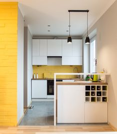 Picture of Modern Small Kitchen with Wooden Bar | ly Kitchens ... on