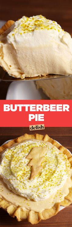 Butterbeer pie is the best way to pregame the premiere of Fantastic Beasts and Where To Find Them. Get the recipe on Delish.com.