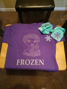Does your child have a favorite character that he/she would like to be displayed on a shirt. Let your child stand out with with Queen Raven's Rhinestone Apparel.