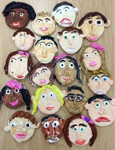 2nd grade crayola model magic clay self-portraits Art with Mr. Giannetto blog