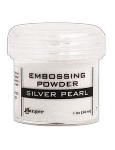 Embossing Powder Silver Pearl, 1oz Jar