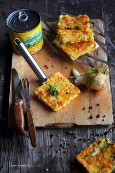 Tarta porumb Sun Food detaliu final Cooking Time, Quiche, Bacon, Veggies, Gluten Free, Vegetarian, Yummy Food, Breakfast, Recipes