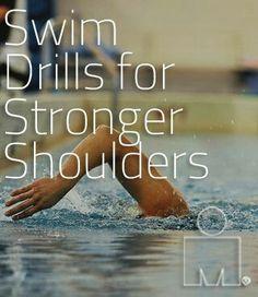 Swim drills for Stronger, Healthier Shoulders for a faster triathlon! Swimming Drills, Competitive Swimming, Swimming Tips, Keep Swimming, Swim Training, Triathlon Training, Marathon Training, Weight Training, Strength Training