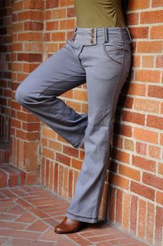 Lily Pant/ Hemp and Organic Cotton Stretch by CircleCreations, $118.00