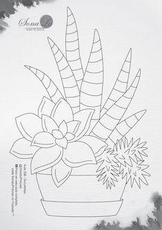 Succulents Drawing, Cactus Drawing, Cactus Painting, Plant Drawing, Cactus Art, Fabric Painting, Doodle Art Drawing, Nature Drawing, Embroidery Art